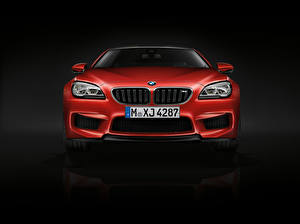 Image BMW Red Front Black background 2015 M6 Coupe F13 automobile