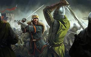 Hintergrundbilder Total War Schlacht Krieger Rüstung Helm Schwert Total War Battles: Kingdom computerspiel