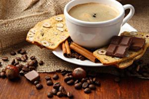 Bilder Getränke Kaffee Schokolade Zimt Brot Nussfrüchte Tasse Getreide Lebensmittel