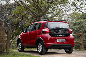 Fotos Fiat Bordeauxrot Metallisch Hinten 2016 Mobi Way On Autos