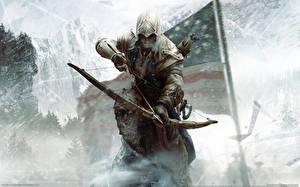 Pictures Assassin's Creed 3 Archers Warriors Man Hood headgear
