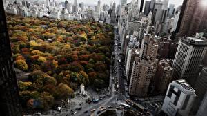 Fotos Gebäude Park Wege USA Von oben New York City Städte