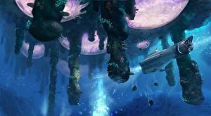 Pictures Technics Fantasy Underwater world Submarines Subnautica vdeo game Fantasy
