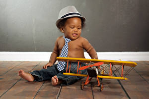 Wallpapers Airplane Infants Boys Hat Necktie Negroid Children
