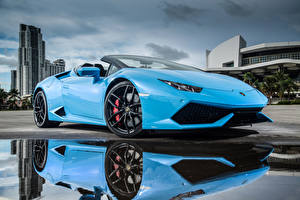 Wallpaper Lamborghini Light Blue Metallic Luxury  automobile