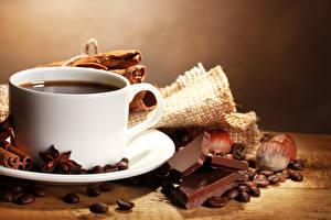 Bilder Kaffee Schokolade Nussfrüchte Tasse Getreide Lebensmittel
