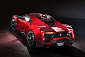 Hintergrundbilder Rot Hinten Lykan HyperSport Autos
