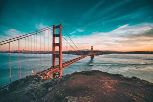 Fotos Brücken Himmel USA Ozean San Francisco golden gate bridge Natur