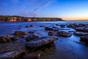 Fotos Australien Landschaftsfotografie Küste Steine Meer Sydney Natur