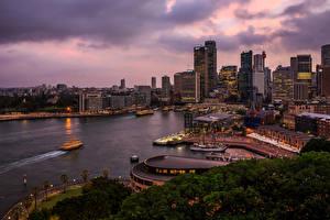 Fotos Australien Haus Schiffsanleger Abend Sydney Städte