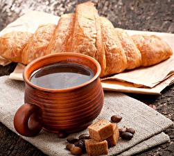 Bilder Kaffee Croissant Tasse Getreide Lebensmittel