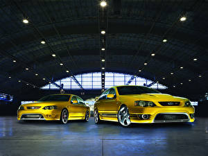Pictures Ford Yellow Two FPV Cars