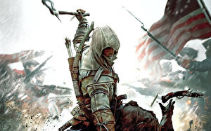 Wallpapers Assassin's Creed 3 Warriors Archers Hooded
