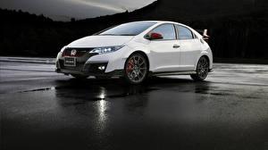 Wallpaper Honda White Modulo Civic Type R Cars