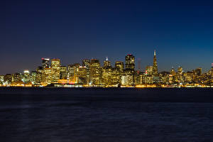 Bilder Küste USA San Francisco Nacht