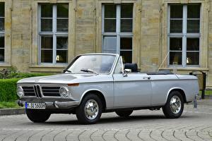 Papel de Parede Desktop BMW Vintage Cinza Conversivel 1967-71 BMW 1600-2 Cabrio Carros