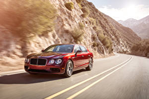Images Bentley Red Metallic Motion Luxury 2016 Flying Spur V8 S automobile