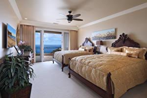 Wallpaper Interior Design Bedroom Bed 2
