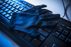 Hintergrundbilder Tastatur Handschuh