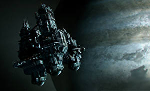 Pictures Ships Alien: Isolation Games 3D_Graphics Space