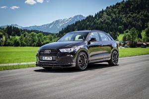 Pictures Audi Tuning Black Metallic 2015-16 ABT QS3 Cars