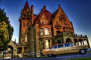 Wallpaper Cadillac Castles Vintage HDR Craigdarroch Castle 1954 Cities Cars