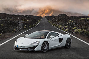 Wallpapers Roads McLaren White 570GT Cars