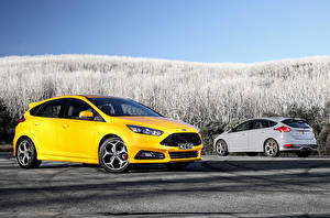 Wallpapers Ford Yellow 2 2015 Focus ST AU-spec automobile