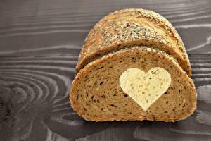 Bureaubladachtergronden Brood Hartje , Voedsel
