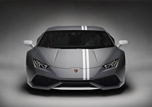 Hintergrundbilder Lamborghini Vorne Huracan LP 610-4 Autos