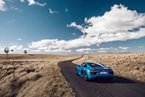 Bilder Wege Himmel Audi Hinten Wolke R8 V10 Plus Autos