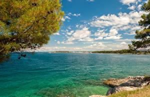Images Croatia Sea Sky Clouds Istarska Nature