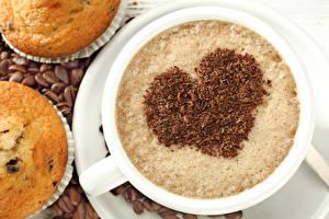 Hintergrundbilder Kaffee Muffin Tasse Herz