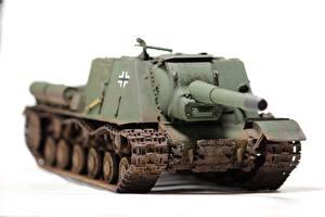 Image SPG Toys White background ISU-152 military