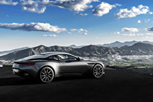 Images Sky Aston Martin Side Clouds DB11 Cars