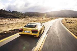 Fotos Wege Audi Hinten Gelb R8 V10 Autos