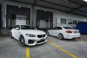 Pictures BMW Two White dAHLer M2 F87 Coupe Cars