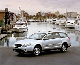 Bilder Subaru Weiß 2003-06 Outback 2.5i auto