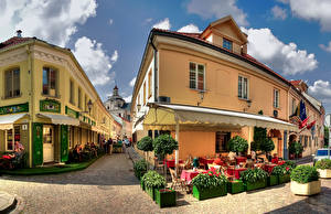 Pictures Lithuania Houses Vilnius Street