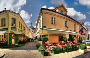 Bakgrunnsbilder Litauen Hus Vilnius Gate byen