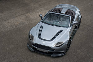 Обои Aston Martin Серая Кабриолета Дорогой Родстер 2016 Vantage GT12 Roadster автомобиль