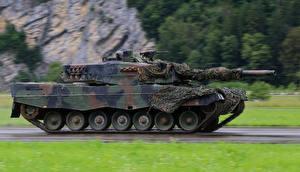 Bureaubladachtergronden Tank Leopard 2 Camouflage Leopard 2 Militair