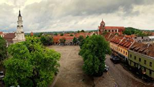 Hintergrundbilder Litauen Gebäude Straße Kaunas old town