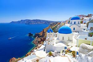 Fotos Griechenland Küste Gebäude Thira Städte