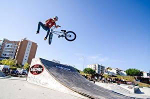 Images Bike Jump Helmet Teenage guy athletic