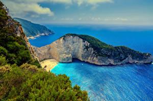 Fotos Griechenland Küste Meer Von oben Felsen Zakynthos Natur