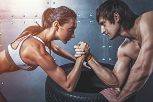 Fonds d'écran Homme Bodybuilding Main Muscle sportives Filles