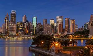 Fotos Australien Haus Sydney Nacht Straßenlaterne