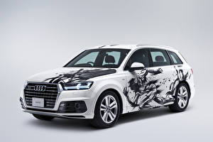 Images Audi Tuning White 2016 Q7 Hidekichi Dynamic Edition Cars