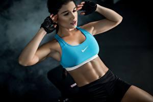 Bilder Fitness Bauch Luz Sport Mädchens